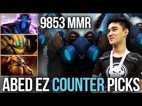 Abed *9853 HIGHEST MMR* Meepo vs. Counter Picks - 6 wins to 10k MMR [Dota 2]