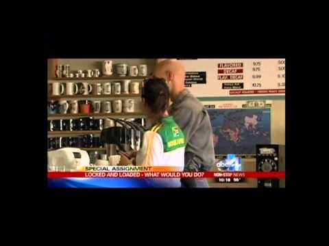 ABC 4 experiment shows mixed reaction to guns in public