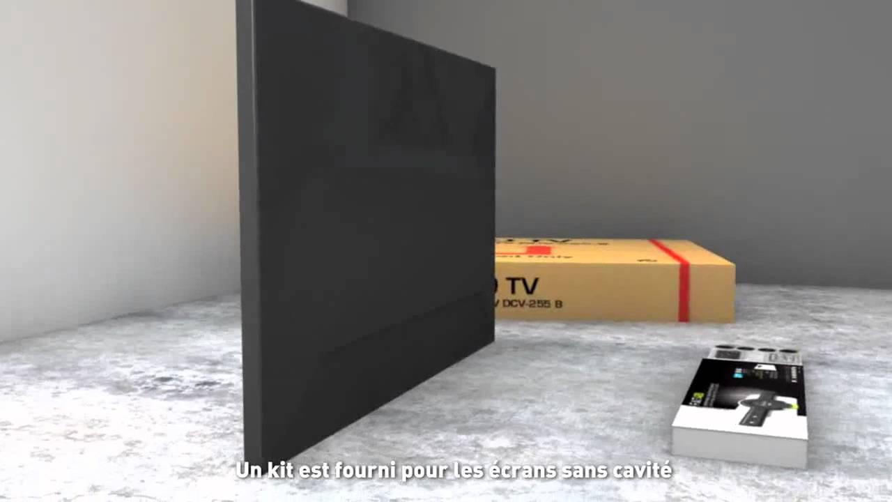 Erard fixit support tv mural pour cran plat slim youtube - Etagere pour tv ecran plat ...