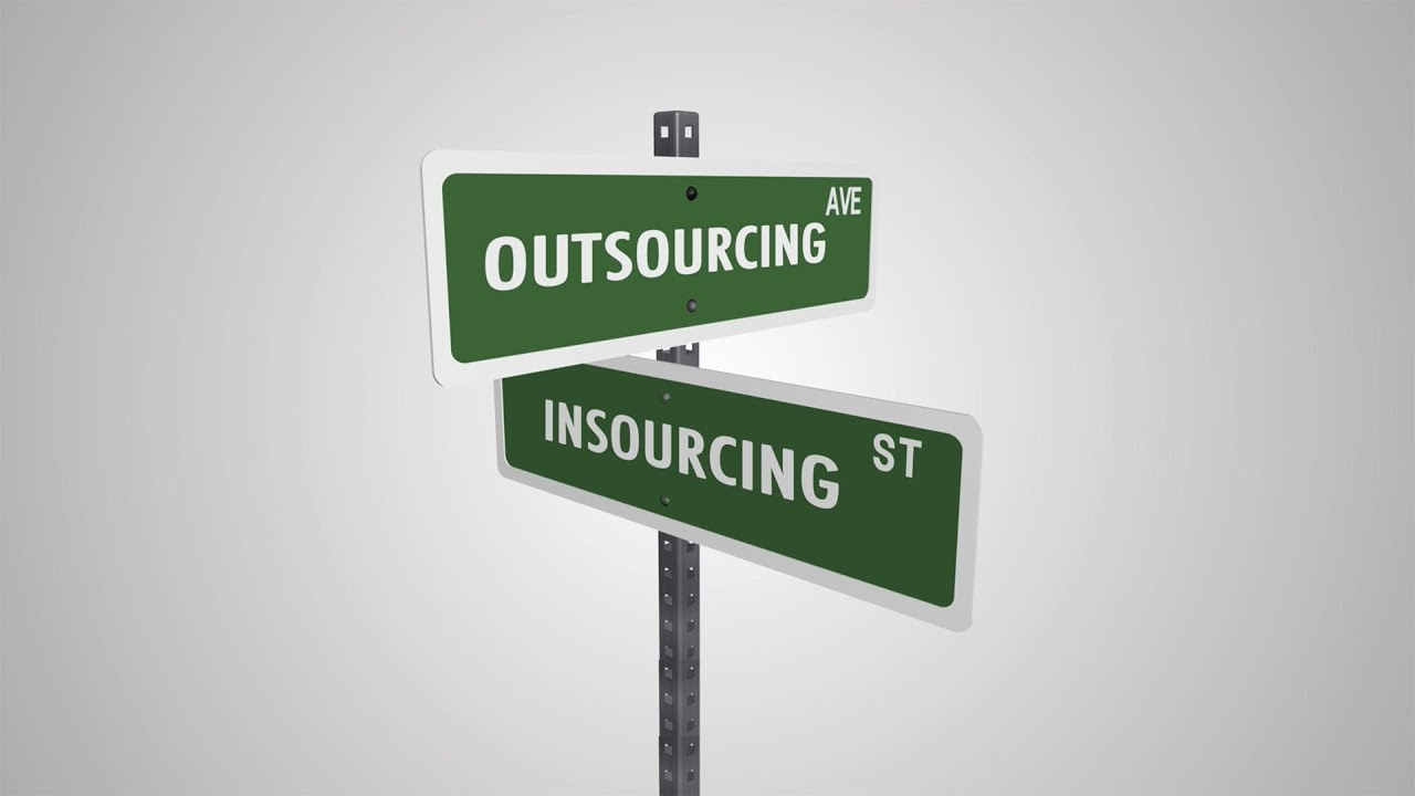 "insourcing person or department hired from Hiring employees versus outsourcing because i didn't want to leave a majority of the responsibility all on one person should (sometimes called ""insourcing."