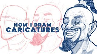 How I Draw CARICATURES - 'Will Smith Genie'
