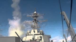 Standard Missile 2 Live Fire Test on USS Arleigh Burke (DDG 51)