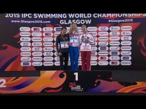 Women's 100m Butterfly S13 | Victory Ceremony | 2015 IPC Swimming World Championships Glasgow