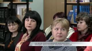 На базе кирсановской библиотеки прошел зональный тренинг семинар