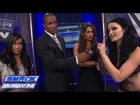 AJ Lee & Paige interrupt Nikki Bella's interview: SmackDown, September 12, 2014