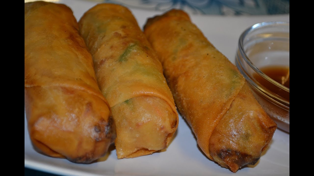 Vegetable Spring Roll (Lumpia) - YouTube