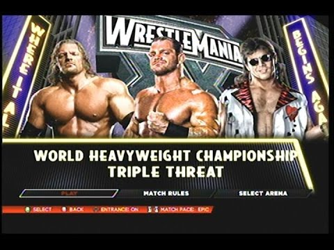 WWE 2k14- Wrestlemania 20 Shawn Michaels Vs Triple H Vs Chris Benoit