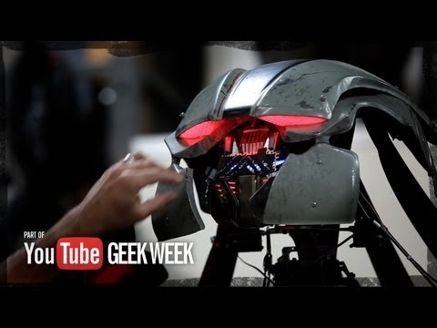 Giant Robot Mech Test - YouTube Geek Week - Stan Winston School