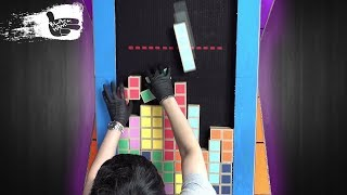 DIY Tetris game from Cardboard