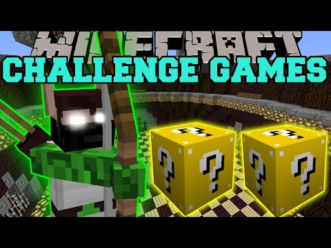 Minecraft: ELF HUNTER CHALLENGE GAMES - Lucky Block Mod - Modded Mini-Game
