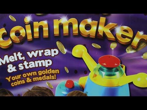Produkcja monet z czekolady | Coinmaker & Playmobil | Bajki dla dzieci