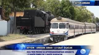 İZMİR   AFYON   ANKARA HIZLI TREN HATTI TEMEL ATMA TÖRENİ YAPILDI (PAMUKKALE TV)