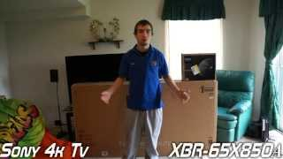 "01. 65"" Sony Bravia 4K Ultra HD TV Unboxing & Review (XBR-65X850A)"