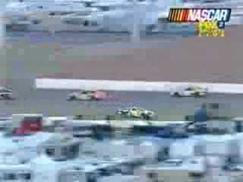 John Andretti and Tim Sauter have a hard crash Video