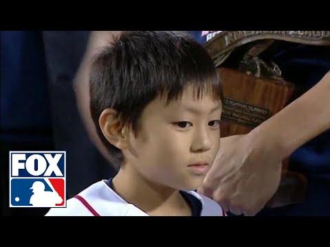 Koji Uehara's son gives adorable interview