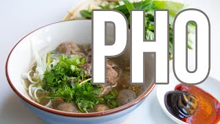 How to Make Hanoi-Style Pho Tai Lan Noodle Soup with Wok-Seared Beef and Crispy Fried Garlic