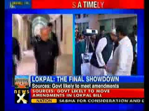 Lokpal bill: Pranab meets key ministers to discuss amendments