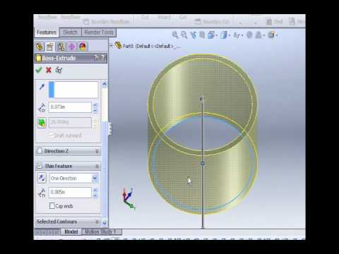 Solidworks Tutorials -1- Cut/Extrude