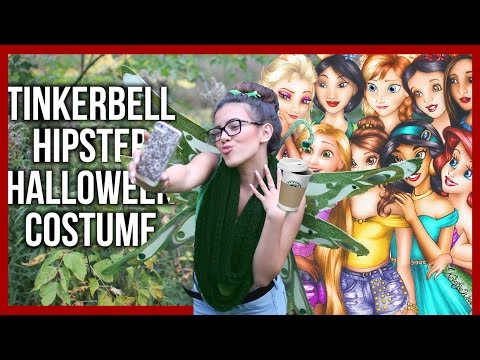 DIY: HIPSTER TINKER BELL Funny Halloween Costume Idea (Cheap)
