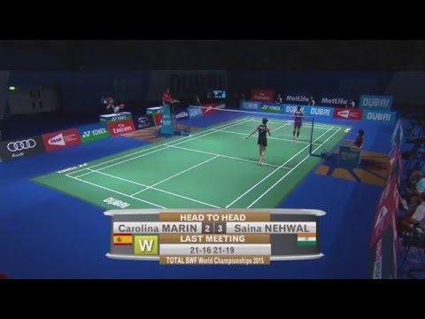 Dubai World Superseries Finals 2015 | Badminton Day 2 M6-WS Grp A | Carolina Marin vs Saina Nehwal