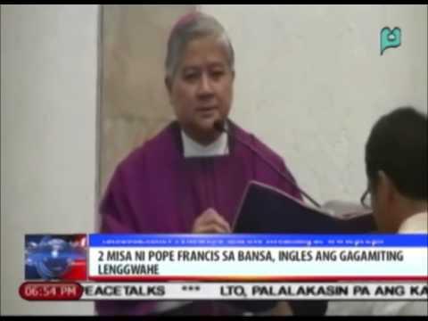 News@6: 2 misa ni Pope Francis sa bansa, ingles ang gagamiting lenggwahe || Jan. 5, 2015