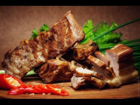 Свиные ребрышки горячего копчения! Как закоптить мясо