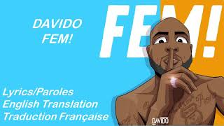 Davido - FEM  Lyrics/English Translation/Paroles/Traduction Française