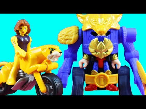 New Imaginext Wonder Woman Warrior Suit With Steve Trevor Island Defense & Cheetah Cycle Toys
