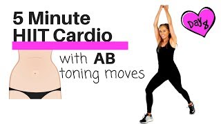 HOME CARDIO HIIT EXERCISE - TO TONE YOUR ABS AND OBLIQUES -TABATA STYLE WORKOUT - CALORIE BURN