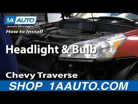 How To Install Replace Change Headlight and Bulb 2009-2014 Chevy Traverse