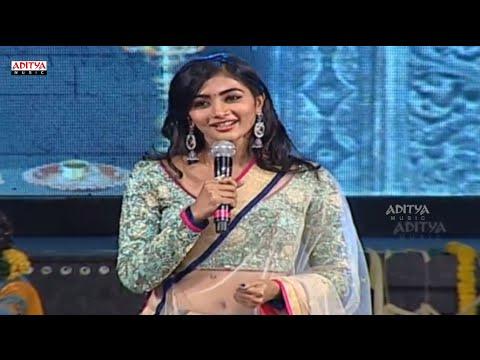 Pooja Hegde Cute Speech In Telugu @ Mukunda Audio Launch Live – Varun Tej, Pooja Hegde Photo Image Pic