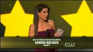 Sandra Bullock dropped F bomb at the Critics Choice Awards 2014
