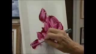 How to Paint a Pink Rose with Pallet Knife