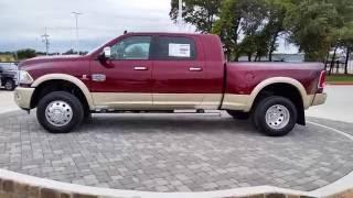 All new 2017 Ram 3500 Laramie Longhorn Mega Cab 4X4 Delmonico Red TDY Sales Granbury DFW Dealer