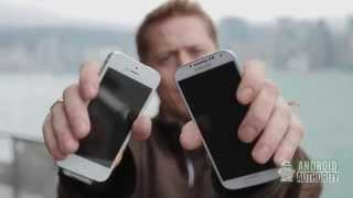 Test de caida, iPhone 5 vs. Samsung Galaxy S4.