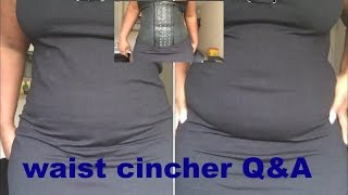 1800cincher Q&A/ cincher under clothes/try on