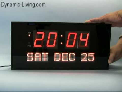 Big Digital Led Calendar Clock Youtube
