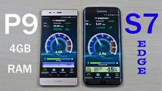 Huawei P9 4GB RAM vs Samsung Galaxy S7 Edge (Exynos) - Speed Test Comparison Review!