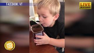 Boy Insists on Eating Cocoa Powder, Learns Lesson