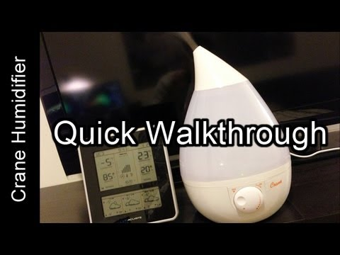 Review: Crane Humidifier (Drop Shape - Cool Mist/Ultrasonic)