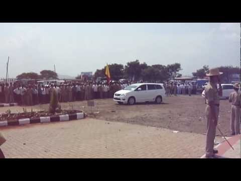 President of India (Pranab da) convoy in belgaum.
