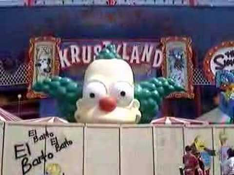 Simpsons Ride - Krusty the Clown Eyes Video