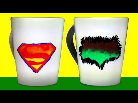 Renk Değiştiren Bardak Nasıl Yapılır? | Batman vs Superman | DIY