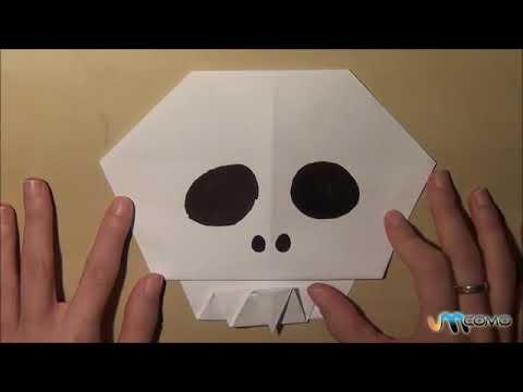 Como fazer uma caveira de papel