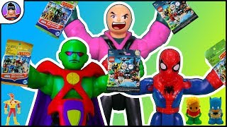 MEGA TREASURE HUNT !- Spiderman, Martian Manhunter and Lex Luthor Treasure Hunts all Combined !