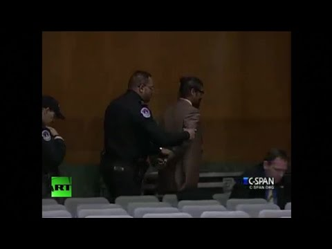 Despite a Senate hearing featuring Director of National Intelligence James Clapper having officially ended, Capitol police arrested and forcefully removed lawyer and activist Shahid Buttar...