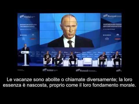 Il discorso di Putin che i nostri politici non faranno mai!