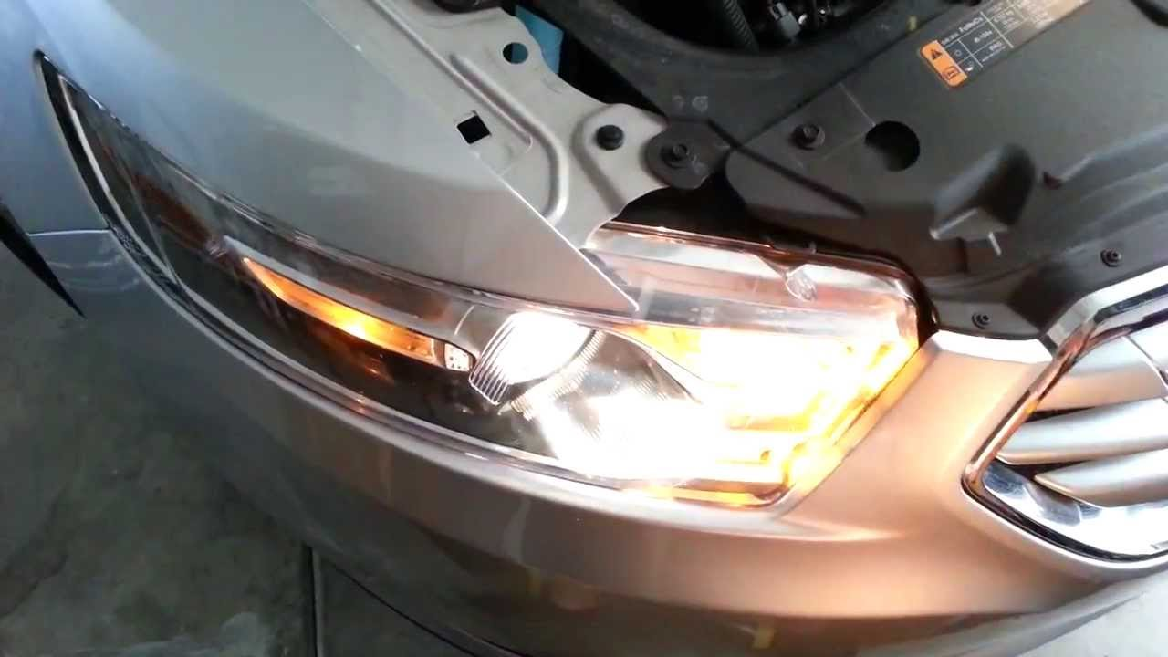 2013 Ford Taurus Limited Headlight Testing Low High Beam