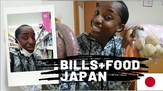 Paying Bills and Food Prices in Japan / Is Japan expensive? /Jamaican in Japan Vlog