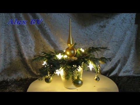 Weihnachts Dekoration vor der Tür oder Balkon / Terasse selber machen